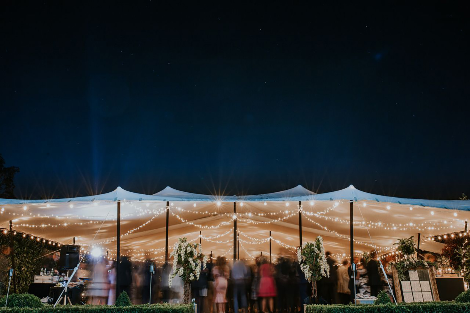 stretch tent party hire